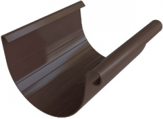 Жёлоб водосточный ПВХ, цвет коричневый, длина-3м,-диаметр-125-мм